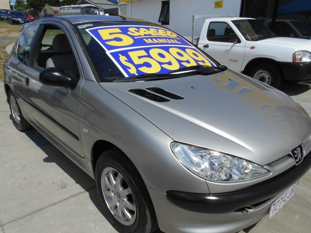Used Peugeot 206 T1 MY03 XR S Springwood, 2003 Peugeot 206 T1 MY03 XR S Silver 5 Speed Manual Hatchback