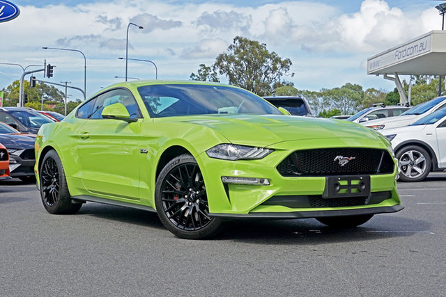 Used Ford Mustang FN 2020MY GT Ebbw Vale, 2020 Ford Mustang FN 2020MY GT Grabber Lime 6 Speed Manual Fastback