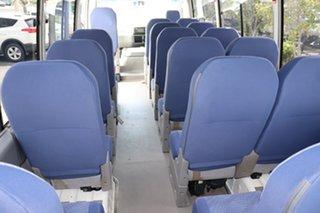 2015 Toyota Coaster XZB50R Deluxe White Manual Midi Coach