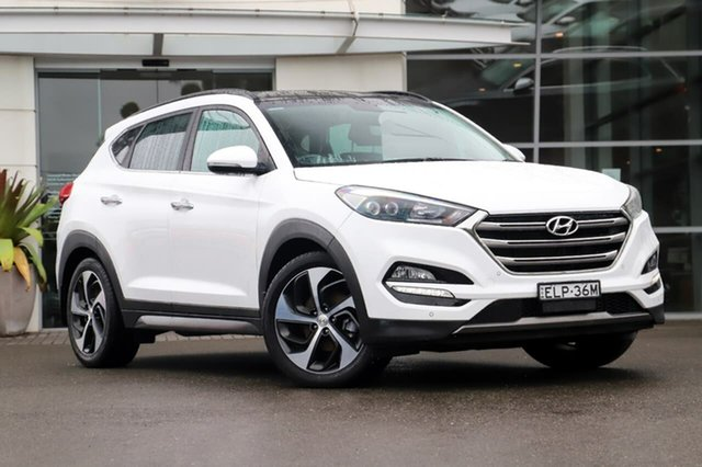 Used Hyundai Tucson TLE Highlander AWD Sutherland, 2015 Hyundai Tucson TLE Highlander AWD White 6 Speed Sports Automatic Wagon