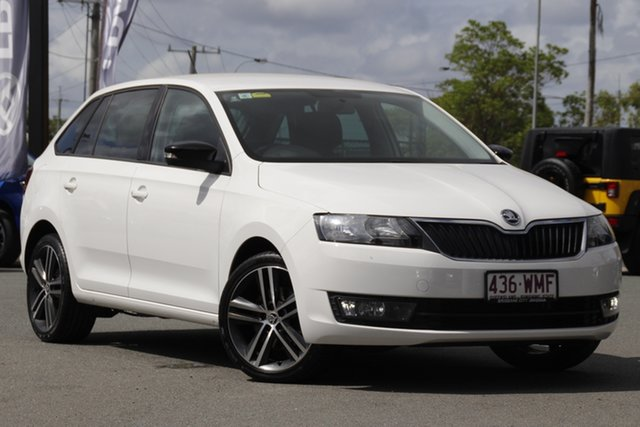 Used Skoda Rapid NH MY16 Spaceback Rocklea, 2016 Skoda Rapid NH MY16 Spaceback Candy White 6 Speed Manual Hatchback