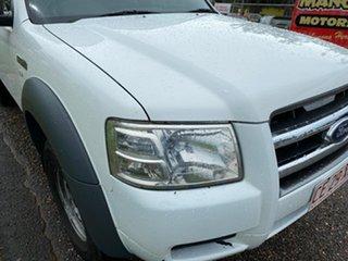 2008 Ford Ranger PJ XL Crew Cab 4x2 Hi-Rider White 5 Speed Manual Utility.