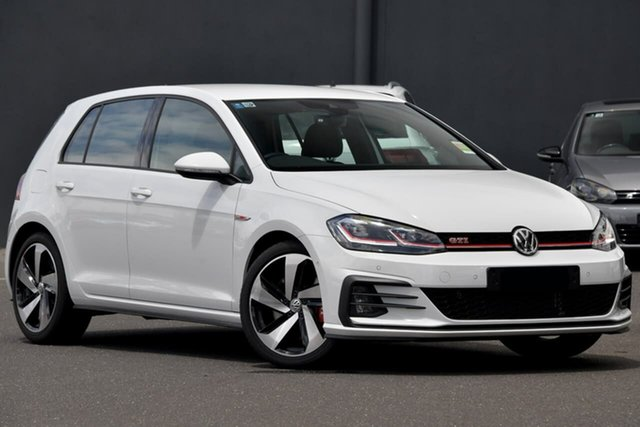 Demo Volkswagen Golf 7.5 MY20 GTI DSG Moorabbin, 2020 Volkswagen Golf 7.5 MY20 GTI DSG White 7 Speed Sports Automatic Dual Clutch Hatchback