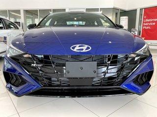 2020 Hyundai i30 CN7.V1 MY21 N Line D-CT Intense Blue 7 Speed Sports Automatic Dual Clutch Sedan.