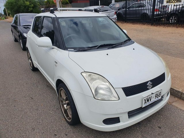 Used Suzuki Swift RS415 Morphett Vale, 2007 Suzuki Swift RS415 White 5 Speed Manual Hatchback