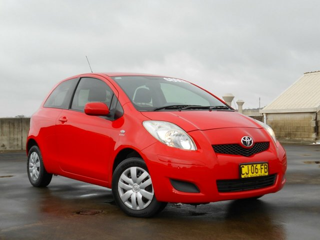Used Toyota Yaris NCP90R YR Brookvale, 2008 Toyota Yaris NCP90R YR Red 5 Speed Manual Hatchback