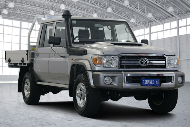 Used Toyota Landcruiser VDJ79R GXL Double Cab Victoria Park, 2020 Toyota Landcruiser VDJ79R GXL Double Cab Silver 5 Speed Manual Cab Chassis