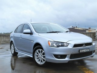 2010 Mitsubishi Lancer CJ MY10 VR Sportback Silver 5 Speed Manual Hatchback.