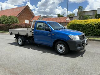 2013 Toyota Hilux TGN16R Workmate Blue 5 Speed Manual Single Cab.