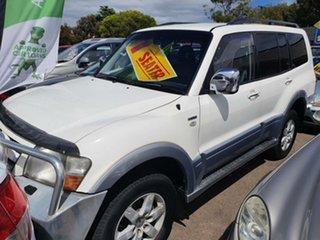 2005 Mitsubishi Pajero NP MY05 Exceed White 5 Speed Sports Automatic Wagon.