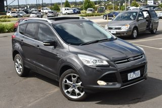 2015 Ford Kuga TF MY15 Titanium PwrShift AWD Grey 6 Speed Sports Automatic Dual Clutch Wagon.