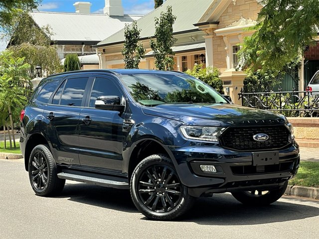 Used Ford Everest UA II 2020.25MY Sport Hyde Park, 2019 Ford Everest UA II 2020.25MY Sport Blue 10 Speed Sports Automatic SUV