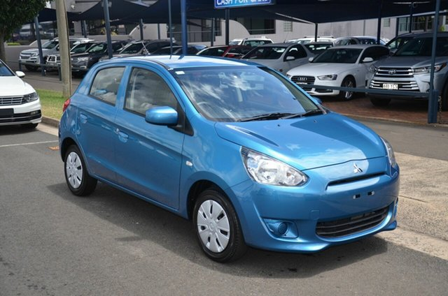 Used Mitsubishi Mirage LA ES Toowoomba, 2014 Mitsubishi Mirage LA ES Blue 5 Speed Manual Hatchback