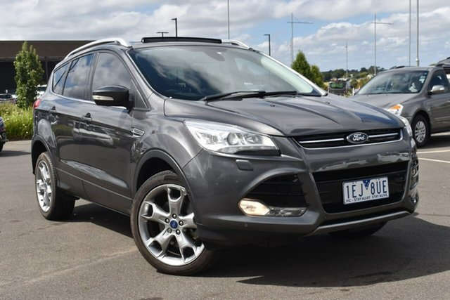 Used Ford Kuga TF MY15 Titanium PwrShift AWD Essendon Fields, 2015 Ford Kuga TF MY15 Titanium PwrShift AWD Grey 6 Speed Sports Automatic Dual Clutch Wagon