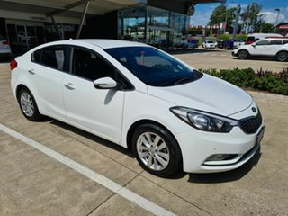 2014 Kia Cerato YD MY15 SI White 6 Speed Sports Automatic Sedan.