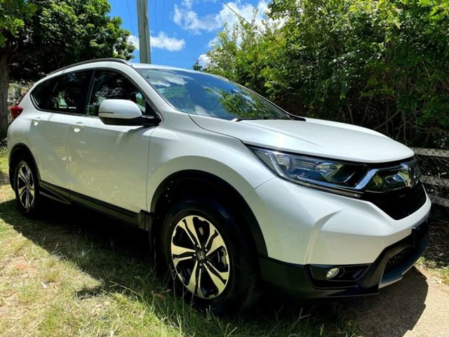 Used Honda CR-V RW MY19 VTi FWD Mount Gravatt, 2019 Honda CR-V RW MY19 VTi FWD Platinum White 1 Speed Constant Variable Wagon