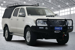 2014 Toyota Hilux KUN26R MY14 SR5 Double Cab White 5 Speed Manual Utility.