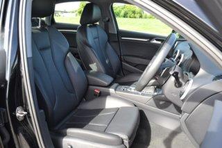 2019 Audi A3 8V MY20 40 TFSI S Tronic Quattro S Line Plus Black 7 Speed Sports Automatic Dual Clutch