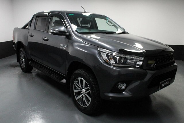 Used Toyota Hilux GUN126R SR5 Double Cab Hamilton, 2018 Toyota Hilux GUN126R SR5 Double Cab Grey 6 Speed Manual Utility