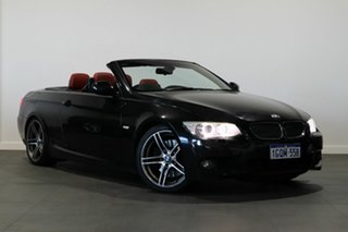 2010 BMW 3 Series E93 MY09 335i D-CT Black 7 Speed Sports Automatic Dual Clutch Convertible.