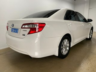 2013 Toyota Camry AVV50R Hybrid H White Continuous Variable Sedan.