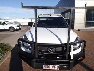 2016 Mazda BT-50 UR0YG1 XT Freestyle 4x2 Hi-Rider Cool White 6 Speed Manual Cab Chassis
