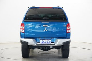 2015 Mitsubishi Triton MQ MY16 GLS Double Cab Blue 6 Speed Manual Utility