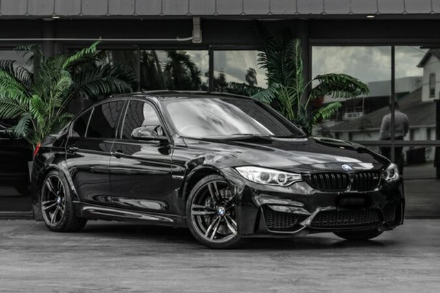 Used BMW M3 F80 LCI M-DCT Bowen Hills, 2015 BMW M3 F80 LCI M-DCT Black 7 Speed Sports Automatic Dual Clutch Sedan