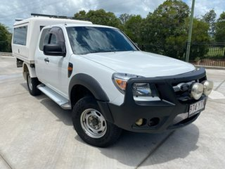2009 Ford Ranger PK XL White 5 Speed Manual Cab Chassis.