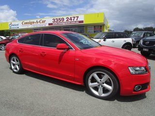 2010 Audi A5 8T MY10 Sportback S Tronic Quattro Red 7 Speed Sports Automatic Dual Clutch Hatchback.