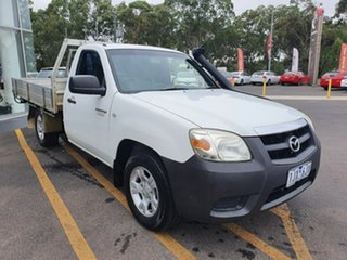 2010 Mazda BT-50 UNY0W4 DX 4x2 White 5 Speed Manual Cab Chassis.