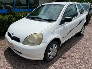 2001 Toyota Echo NCP10R White 5 Speed Manual Hatchback.