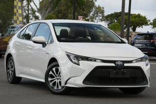 2019 Toyota Corolla ZWE211R Ascent Sport E-CVT Hybrid White 10 Speed Constant Variable Sedan Hybrid.