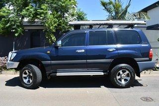 2000 Toyota Landcruiser FZJ105R GXL Blue 4 Speed Automatic Wagon.
