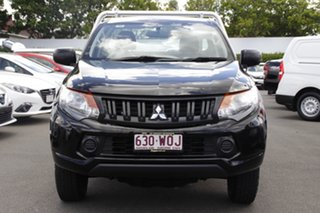 2016 Mitsubishi Triton MQ MY17 GLX 4x2 Black 5 Speed Manual Cab Chassis