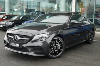 2018 Mercedes-Benz C300 205 MY19 Graphite Grey 9 Speed Automatic G-Tronic Coupe.