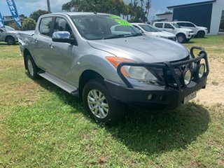 2011 Mazda BT-50 XTR Silver 6 Speed Automatic Crewcab.