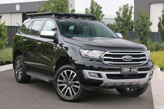 2018 Ford Everest UA II 2019.00MY Titanium Black 10 Speed Sports Automatic SUV.