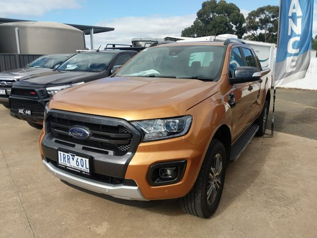 Used Ford Ranger PX MkIII 2020.25MY Wildtrak Epsom, 2020 Ford Ranger PX MkIII 2020.25MY Wildtrak Orange 10 Speed Sports Automatic Double Cab Pick Up