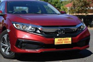 2020 Honda Civic 10th Gen MY20 VTi Red 1 Speed Constant Variable Sedan