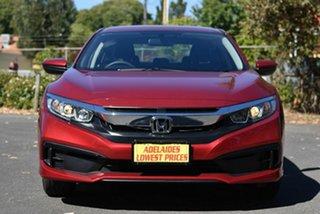 2020 Honda Civic 10th Gen MY20 VTi Red 1 Speed Constant Variable Sedan.