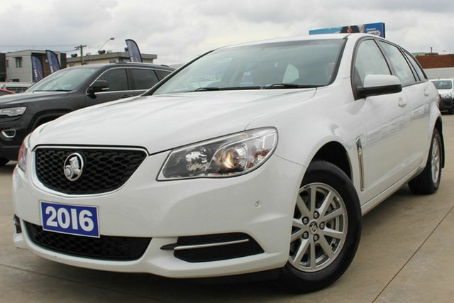 Used Holden Commodore VF II MY16 Evoke Sportwagon Coburg North, 2016 Holden Commodore VF II MY16 Evoke Sportwagon White 6 Speed Sports Automatic Wagon