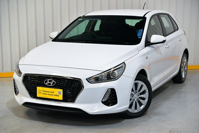 Used Hyundai i30 PD MY18 Go Hendra, 2018 Hyundai i30 PD MY18 Go White 6 Speed Sports Automatic Hatchback
