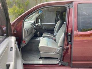 2009 Nissan Navara D40 ST-X King Cab Maroon 5 Speed Automatic Utility