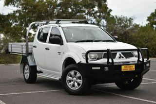 2012 Mitsubishi Triton MN MY12 GL-R Double Cab White 5 Speed Manual Utility.