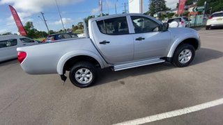 2015 Mitsubishi Triton MN MY15 GLX Double Cab Silver 5 Speed Manual Utility