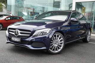 2017 Mercedes-Benz C350 205 MY17.5 E (Hybrid) Cavansite Blue 7 Speed Automatic Sedan.