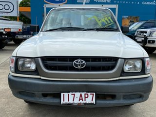2003 Toyota Hilux RZN149R MY02 4x2 White 5 Speed Manual Utility.