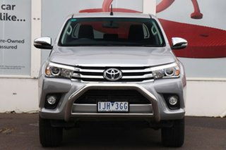 2016 Toyota Hilux GUN126R SR5 Double Cab Silver Sky 6 Speed Sports Automatic Utility.