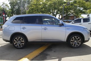 2014 Mitsubishi Outlander ZJ MY14.5 PHEV AWD Aspire Silver 1 Speed Automatic Wagon Hybrid.